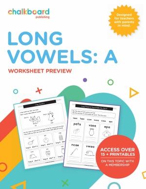 US Long Vowels A - Grades K-1
